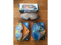 Various swimming goggles