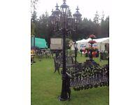 Aluminium garden lights (hawthornes, garden furniture)