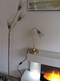 Matching Standard lamp and Table lamp