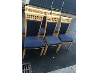 Six Large Sturdy Dining Chairs