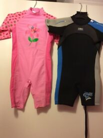 Wetsuits Banna Bite 2/3 years old and MOTHERCARE 12-18 months