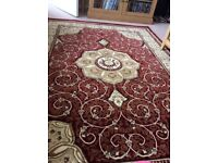 RUG - DUNELM RED HERITAGE - ONLY 6 MONTHS OLD! £75 COST £125