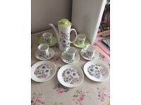 Vintage bone china set of John Russell angelique hostess ware