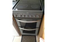 Belling Electric Cooker , 4 ring ceramic hob , double oven , can be seen working ! Must collect
