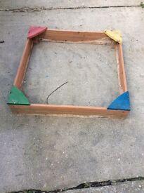 Free wooden sandpit 90 by 90cm