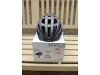 Cycle helmet mtb road brand new Uvex in box size large dark silver grey