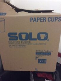 Box of 1000 8oz paper takeaway cups ideal for car boot sales or similar
