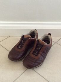 Pair of Brown Lace Merrell Shoes