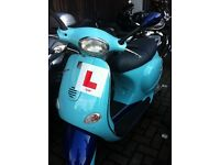 Vespa ET4, limited edition two-tone light blue 2003, 17,400 miles, FSH, new battery, great condition