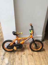 Boys Bike 'Huffy inferno' Bright Orange. 13 inch wheels. Collection only.