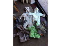Baby boy bundle - snow suits, coats and jackets