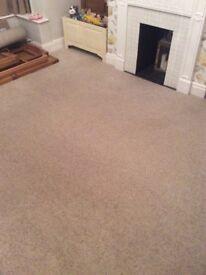 Monmouth Twist Beige Wool Carpet excellent condition