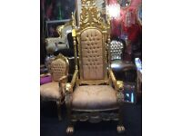 Fabulous French Rococo style throne