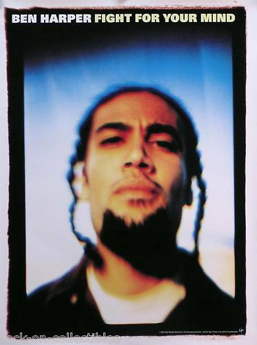 Ben Harper 1995 Fight For Your Mind Original Promo Poster