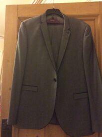 Men's Suit From Next 46L Jacket, 36R Trousers