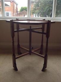 Antique oak 'Revertable' folding games table