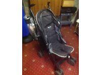 Silver cross pop black/grey stroller, £30