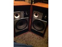 Wharfdale Glendale XP-3 Speakers vintage with new retro vintage parts used