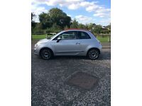 Convertible Fiat 500 excellent Condition/Full Red Leather interior For Sale
