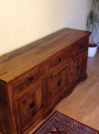 Beautiful Dark wooden unit with 3 cupboards and 3 drawers
