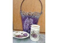 Shabby chic bathroom accessories X 3
