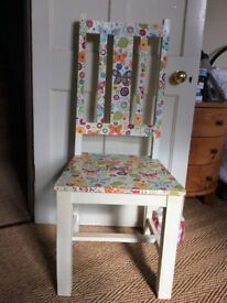 Chair, wooden, hand painted and decorated
