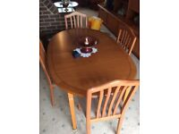 Dinning room table with 4 chairs for sale