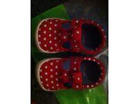 Clarks doodle pre walker shoes size 3.5G