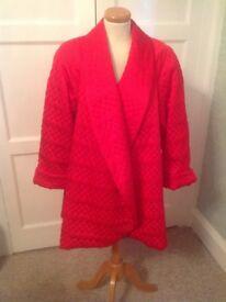 Fabulous red Frank Usher vintage swing jacket size S