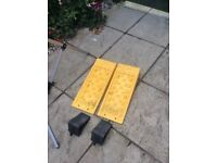 Fiamma levelling ramps x 2 plus two chocks