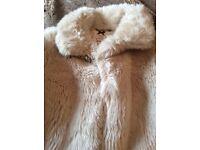 Girls marks and spencer fur jacket