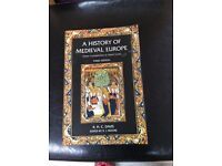 A History of Medieval Europe from Constantine to Saint Louis (3rd edition) R.H.C Davis