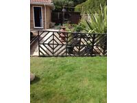 Garden Fences x 5 Plus Gate Lattice Decorative Structure H940mm x W2000mm