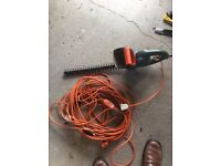Electric Hedge Trimmers with extension lead