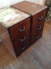 Two antique drawers dovetail joints £30