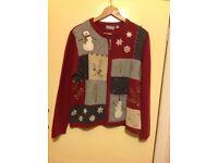 Christmas Sweater - Large, washable, zipped closure