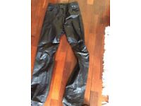 Ladies leather trousers small black
