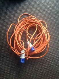 Long electric hook up cable