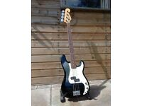 Squire by Fender P-Bass 4 string bass guitar