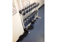 Barbells and Dumbbells plus stand