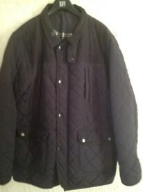 Men's blue quilted jacket XL