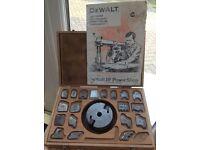 DeWalt DW110 radial arm shaper blades and head