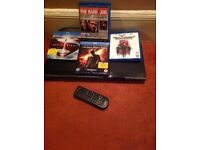 Blue ray player and 4 new films