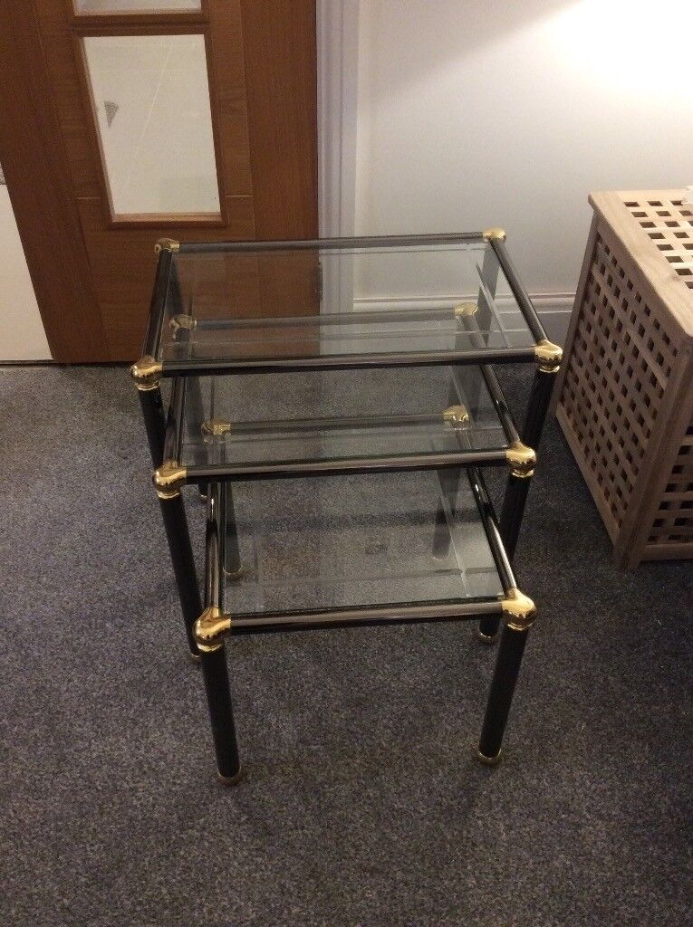 Dfs Glass Nest Of Three Coffee Tables