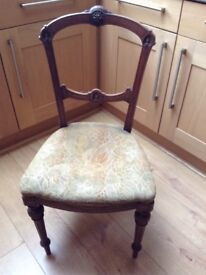 Pair of antique bedroom/dining chairs ideal restoration project