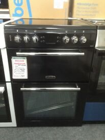 Leisure 60cm electric cooker. Black. £349 RRP £549. New/graded 12 month Gtee