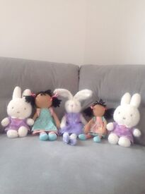Soft Toys, Hello Kitty, dolls, Rabbits, Miffy.