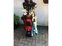 Ladies golf clubs red bag and trolley, suitable for beginner
