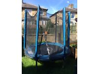 6ft Plum trampoline & enclosure blue