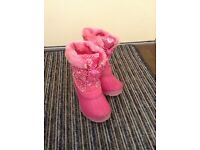 Girls Pink Snow Boots, size 11, excellent condition